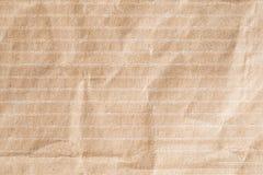 Bereiten Sie zerknitterte Beschaffenheit des braunen Papiers, alte Papieroberfläche für backg auf Stockfotos
