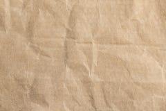 Bereiten Sie zerknitterte Beschaffenheit des braunen Papiers auf Lizenzfreie Stockbilder