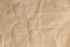 Bereiten Sie zerknitterte Beschaffenheit des braunen Papiers für Hintergrund auf Stockbild
