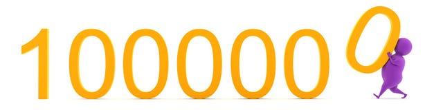 Bereits Million! Stockfoto