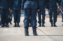 Bereitschaftspolizei Stockfotografie