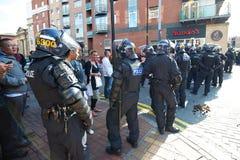 Bereitschaftspolizei sperren ab Lizenzfreie Stockfotografie