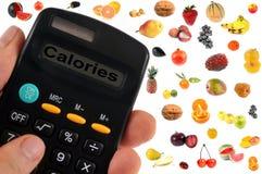 Berekening van calorieën vruchten royalty-vrije stock afbeelding