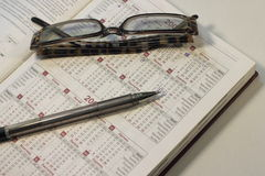 Berekening van dagen in de kalender Royalty-vrije Stock Afbeelding