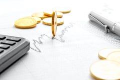 Berekening van financiële manipulatie in de voorraad stock foto
