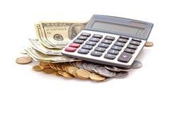 Berekening van financiën stock afbeelding