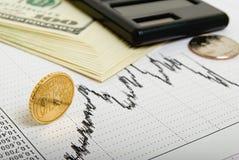 Berekening van financieel gewin. royalty-vrije stock foto