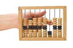Berekening voor houten rekeningen stock foto