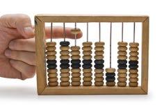 Berekening voor houten rekeningen royalty-vrije stock fotografie