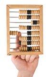 Berekening voor houten rekeningen royalty-vrije stock foto