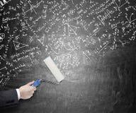 Berekeningen op het bord Stock Afbeeldingen