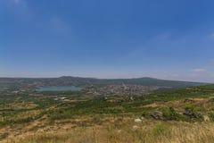 Berekhat Mas'ade przy wzgórze golan i baran zdjęcie royalty free