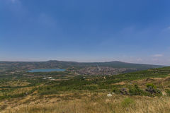 Berekhat Ram and Mas'ade at Golan Heights. View of Berekhat Ram and Mas'ade at Golan Heights royalty free stock photo