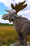 Berendeyevo, Moscow region, Russia, 26 July 2014, summer landscape with fabulous sculptures, moose. A Public Park Royalty Free Stock Photo