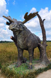 Berendeyevo, Moscow region, Russia, 26 July 2014, summer landscape with fabulous sculptures, moose. Public Park Royalty Free Stock Photography