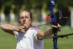 Berengere SCHUH (FRA). EUROPEAN FINALIST.18th European and mediterranean Archery Championships.Vittel.France.12 to 17 May 2008 Stock Images