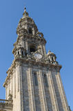 Berenguela tower in Santiago de Compostela Cathedral. One of the towers of Santiago de Compostela Cathedral. Is known as Clock Tower, also called da Trindade or Royalty Free Stock Images