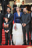 Berenice Bejo & Aghar Farhadi. CANNES, FRANCE - MAY 17, 2013: Berenice Bejo & director Aghar Farhadi & cast at the gala premiere of their movie The Past (Le Pass Stock Image