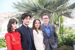 Berenice Bejo, Louis Garrel, Stacy Martin and director Michel Ha Royalty Free Stock Images