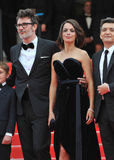 Berenice Bejo & Michel Hazanavicius Royalty Free Stock Images