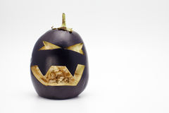Berenjena de Halloween foto de archivo libre de regalías