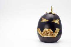 Berenjena de Halloween (vegano Halloween) imagen de archivo