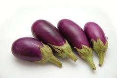 Berenjenas púrpuras del bebé Fotografía de archivo