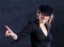 beret δάχτυλο που δείχνει τι&si Στοκ Εικόνες