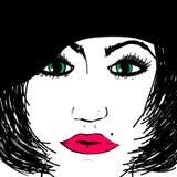 beret μαύρη γυναίκα στοκ εικόνες με δικαίωμα ελεύθερης χρήσης