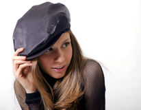 Beret beauty Stock Photo