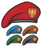 Beret. Military beret, beret collection, special force Stock Photos