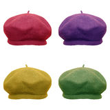 Berets in modern colors Royalty Free Stock Photo