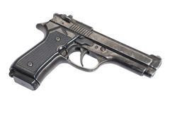 Beretta hand gun Stock Photo