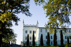 Berezhany,乌克兰- 5月17日Belokrynytsky宫殿-位于村庄的大厦Bilokrynytsia 库存照片