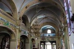 Berezhany, Ukraine - 24 août 2013 : Bel intérieur d'église image libre de droits