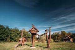 Berezinsky, riserva di biosfera, Bielorussia Posto popolare per resto A immagini stock libere da diritti