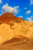 Bergöknen landskap i den Death Valley nationalparken, Califor Arkivbild