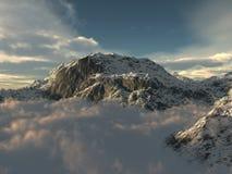 bergöverkant Arkivbilder