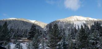 Berg älskar snö arkivbilder