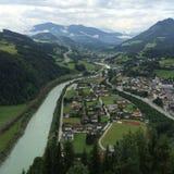 Berg in Österreich Stockfotografie
