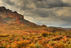 Berg 105 van de woestijn stock foto's