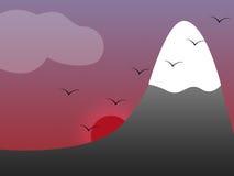 berg vektor illustrationer