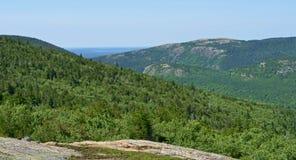 Berg Acadianationalpark arkivfoto