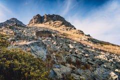 Berg alpien landschap in de Kaukasus Stock Afbeelding