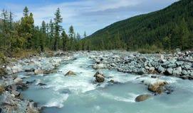 Berg Altai De rivier Akkem stock afbeeldingen