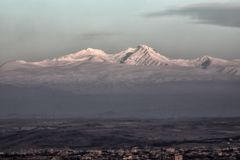 Berg Aragats Stockbild