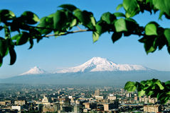 Berg Ararat.Armenia. Royalty-vrije Stock Foto's