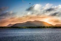 Berg auf der Insel Stockfotos