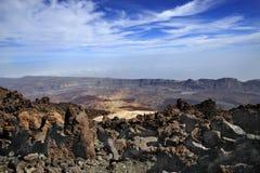Berg auf Tenerife, EL teide Vulkan Stockbild