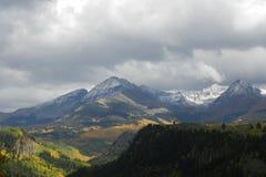 Berg Autumn Colors Dibe Ntsa Hesperus lizenzfreie stockfotos